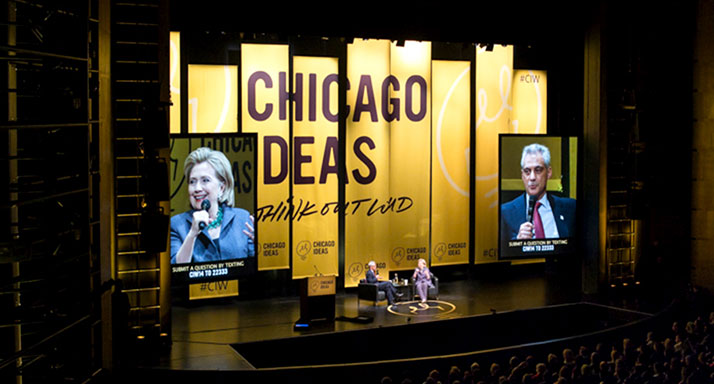 Chicago Ideas Hillary Clinton Stage Banners Featured Image